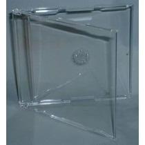 50 Caixinhas Acrilica Cd / Dvd - Single Slim Transparente
