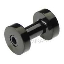 Alargador 6mm Piercing Preto Aço Inox Cirúrgico 316l