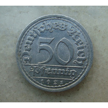 5353 Alemanha - 50 Pfennig 1921 G - Karlsruhe 23 Mm