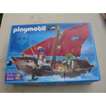 = Playmobil = Pirata Barco Com Canhão 4444 Alemão Geobra