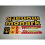 Adesivo Colante P/ Bike Monark Tropical Amarelo Frete Grátis