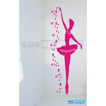 Adesivo De Parede Decorativo Bailarina Métrica Grande Fada