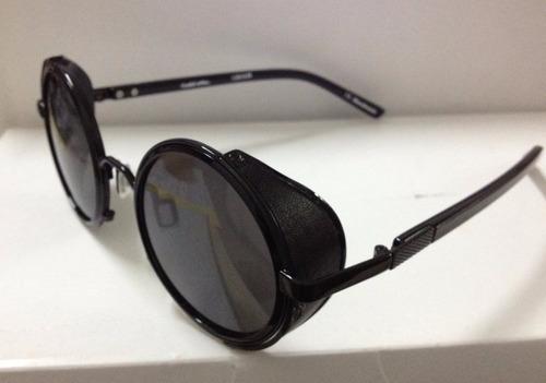 7b04183984699 Óculos Redondo Preto C Proteção Lateral Vintage Estiloso B89 - R ...