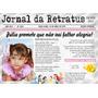 40 Convites Jornal 15 X 20 Impressos Em Papel Vergê