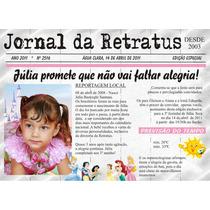 50 Convites Jornal Personalizado 15 X 20 Em Papel Vergê