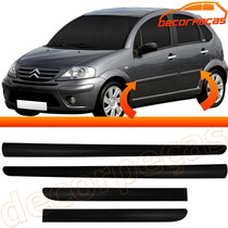 Kit Friso Lateral Citroen C3 03 - 11 4 Pecas Largo Novo