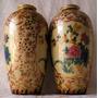 Antigos Vasos Japoneses Em Porcelana Pintada À Mão. Satsuma.