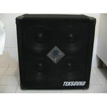 Caixa Teksound 4x10 Com Driver Para Contra Baixo - Tk410cd