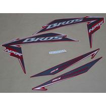 Kit Adesivos Honda Nxr150 Ks Bros 2011 Vermelha - Decalx