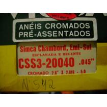 Anéis De Pistão Simca Chambord, Emi-sul 8cc Cromado N°542