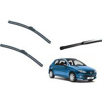 Kit Limpador Para Brisa Peugeot 206 2 Sw Dianteiro +traseiro