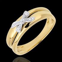 Anel Com Laço Em Ouro 18k Com Diamantes