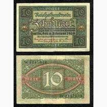 Alemanha 10 Marcos 1920 P. 67a Fe Cédula Belíssima