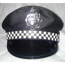 Fantasia Carnaval Festas Chapéu Quepe Policial Inglês Xadrez