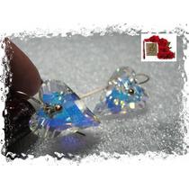 A.g.jóias. Maravilhoso Par De Brincos, Com Cristal Austríaco