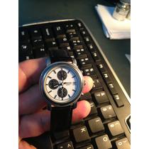 Relogio Volvo Cronograf Data Aço Couro Semi Novo Show