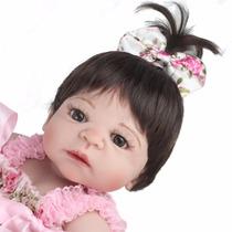 Toda De Vinil Silicone Boneca Bebe Reborn Victoria 55 Cm