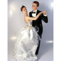 Noivinhos Topo De Bolo Grande 26 Cm Vestido Noiva Em Tecido