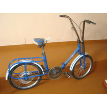 Bicicleta Antiga Caloi Berlineta Dobravel