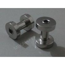 Alargador Piercing 3mm Aço Inox Cirúrgico 316l Prata