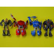 04 Bonecos Transformers Fixos De Plastico Enfeites Bolos