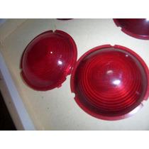 Lanternas Antigas Redondas - Par De Lentes Vermelhas Adaptar