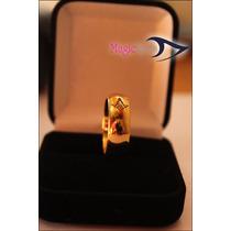Aliança Tungstenio Dourada Com Símbolo Maçom +01 Pin