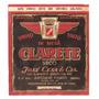 Rótulo Do Vinho De Mesa Tinto Seco Clarete - Safra 1958