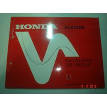 Catalogo Peças Moto Honda Xlx 250r Motocicleta Cross Xl Roda