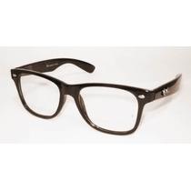 Armação Óculos Grau Nerd Skate Wayfarer Ray Geek Retro Preto
