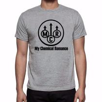 Camiseta Cinza Mescla My Chemical Romance Banda De Rock 571