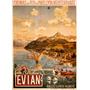 Cartaz Poster Vintage França Evian Mediterrâneo Barcos
