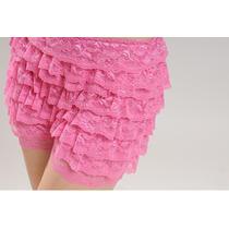 Short Importado Já No Brasil Pink De Renda Tam Único