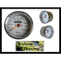 Velocimetro 100mm 200km Buggy Brm Gayola Tuning Willtec