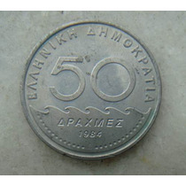 4005 - Grecia 50 Drachma, Apaxmai 1984 - 30mm, Niquel