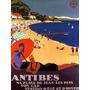 Ferias Viagem Praia Chic Verão Antibes França Poster Repro