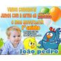50 Convites Galinha Pintadinha Envelop Colorido Selo Do Tem