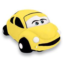 Almofada Pelucia Carro Fusca Amarelo 18x33cm Unisex Lavavel
