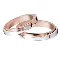 Par De Alianças Puro Amor Ouro E Diamantes
