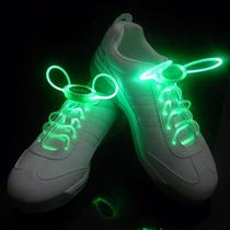 Cadarço Led Style Verde Luminoso Neon Para Tênis (par)