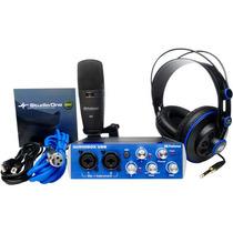 Audiobox Studio Presonus Kit Gravaçao Multpistas Completo