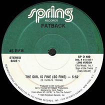Fatback Band 12 Single The Girl Is Fine (so Fine) 1983