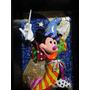 Romero Britto Quadro Escultura Em 3d Mickey Feiticeiro 27cmh