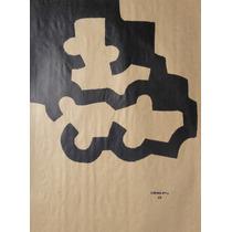 Eduardo Chillida - Composição Abstrata - Serigrafia Enorme