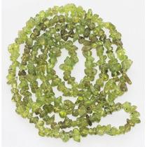 Cascalho Verde Claro Peridoto Fio 90cm Teostone Colar 865