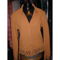 Blusa / Camisa Em Crepe Indiano Griffe Reserva Natural