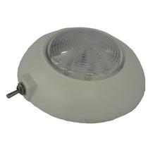 Luminária Náutica De Cabine 12 Leds Com Chave 12v 100 Mm