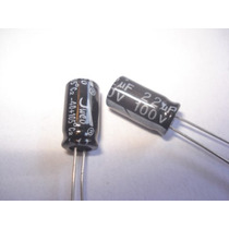 Capacitor Eletrolítico 22uf X 100v 105° 10 Pçs Frete Grátis