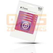 Itunes Gift Card $60 Cartão Ipod Iphone Ipad Mac App Store