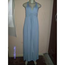 Vn108 - Vestido Longo Cinza Drapeado Bojo Manequim U